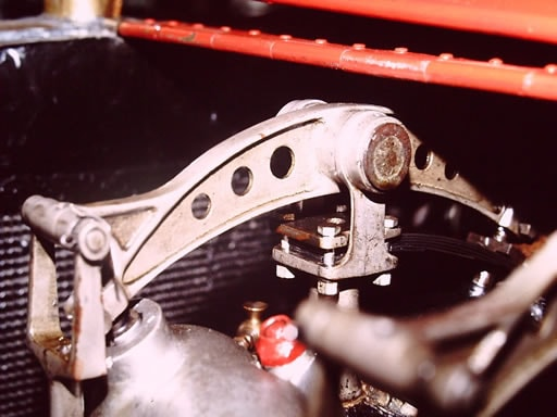 Rocker arm on the original 1907 Grand Prix racer